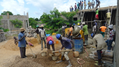 Worksite 23-workers and cement mixer 3