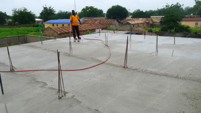 Worksite 24-Soule watering roof 1